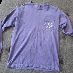 Ivory Ella Comfort Color Light Purple Long Slv •Sm